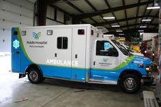 Remounted Ambulance Delivery by VCI to Riddle Memorial 2014 Ford E450 RV188