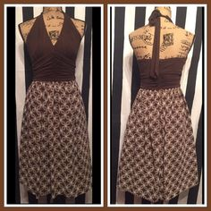 BOGO FREE LONDON TIMES GORGEOUS DRESS SZ 10 LONDON TIMES GORGEOUS DRESS SZ 10- TOP PART IS DARK BROWN COLORBOGO FREE ON ALL CLOTHING Just add your listings to a bundle and I will make you a bundle with the free items when you tell me you ready to check out ! Thanks so much London Times Dresses