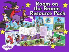 Childminder Room on the Broom Resource Pack - twinkl Halloween Theme Preschool, Halloween Activities For Kids, Fall Preschool, Preschool At Home, Preschool Kindergarten, Halloween Themes, Activities For 2 Year Olds, Book Activities, Toddler Activities
