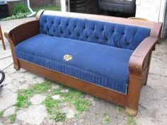 Antique Kroehler Unifold Davenport Sofa Bed Guide
