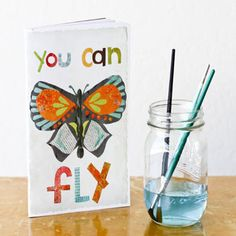 "I've been a sucker for butterflies and this ""You Can Fly Journal"" is way too adorable for words."