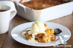 Hvetestang | Det søte liv Cobbler, Kiwi, French Toast, Peach, Ice Cream, Breakfast, Desserts, Food, No Churn Ice Cream