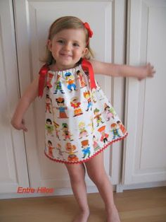 "Tutorial: como hacer un ""pillowcase dress"""