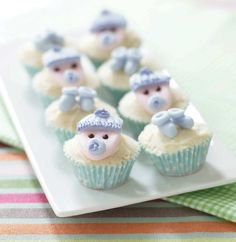 Baby Boy Cupcakes for the Shower