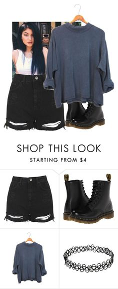 """Untitled #806"" by juli-docherty ❤ liked on Polyvore featuring Topshop and Dr. Martens"