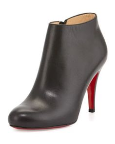 christian louboutin top 70 suede red sole ankle boot black
