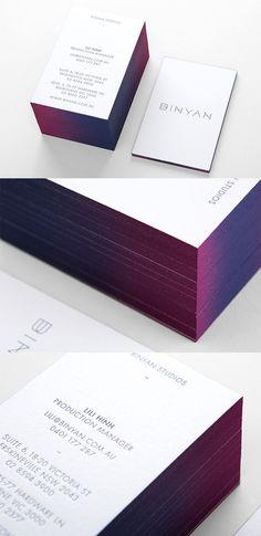 Beautiful Gradient Edge Painted Minimalist Design Business Card