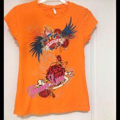 "Spotted while shopping on Poshmark: ""Orange Graphic Tee Shirt""! #poshmark #fashion #shopping #style #Tops"