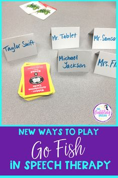 Using go fish in speech therapy is an easy and effective game for students. Sometimes you have to get creative with how to make go fish fun in speech!