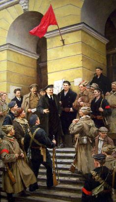Lenin and the Red Guards in St Petersburg