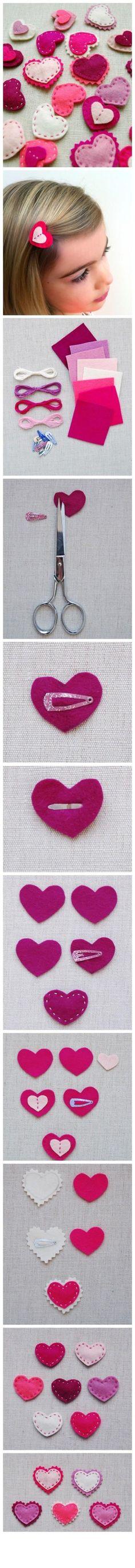 爱心小发夹。很Q~【阿团丸子】…_来自团团小团团的图片分享-堆糖网