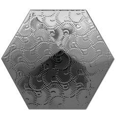 Heksagon Piramidal - płytki ścienne Dec. Piramidal 2 Plata 17x15