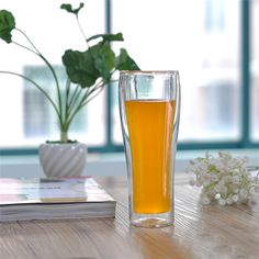 beer glass cups double wall glass cups