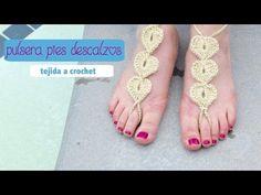 Crochet Hearts Barefoot Sandals Tutorial - YouTube