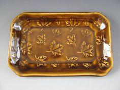 Ceramic Pottery Soap Dish / Trinket Tray by CeramicsbyMarcelle