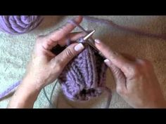 Learn how to do a thumb gusset on a mitten.