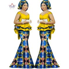 2017 Spring skirt set african designed clothing traditional bazin print Bazin Riche plus size skirt set evening dress WY1312