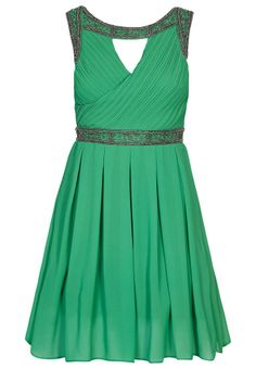 Cocktail dress / Party dress in green colour.