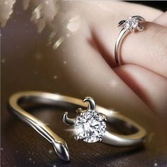KnSam Ring for Women Fashion Sterling Silver Ring for Women Single CZ Mosaic