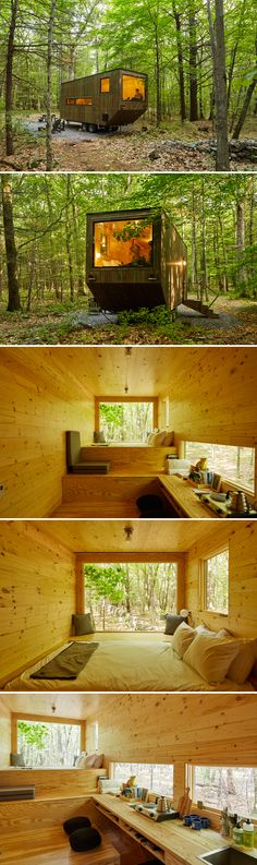 Located in upstate New York, the Maisie is a secluded tiny house available for nightly rental through Getaway.House.