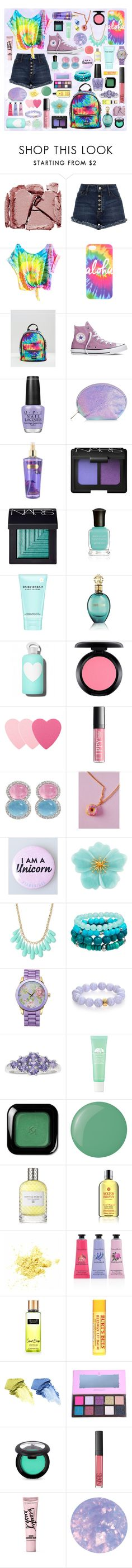 """Tie Dye"" by daisyxz ❤ liked on Polyvore featuring Surratt, Jaded, Converse, OPI, New Look, NARS Cosmetics, Deborah Lippmann, Marc Jacobs, Roberto Cavalli and bkr"