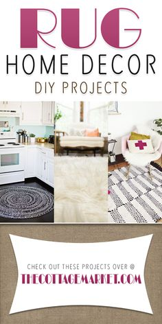 Rug Home Decor DIY Projects - The Cottage Market