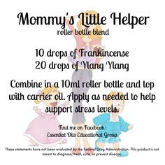 Mommy's Little Helper during a stressful week! doTERRA Find me on FB: Essential Oils Educational Group