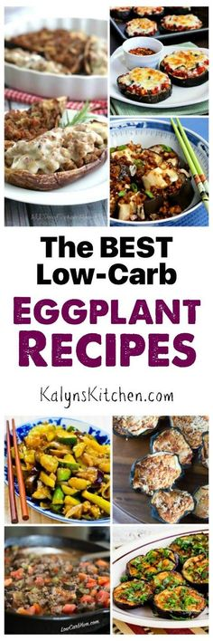 Here are The BEST Low-Carb and Gluten-Free Eggplant Recipes from great blogs all around the web! [found on KalynsKitchen.com]