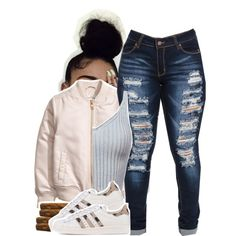 I Wish I Didn't Have a Heart by queen-tiller on Polyvore featuring polyvore, fashion, style, adidas Originals and clothing