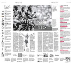 Doping Casts Long Shadow Over Olympics|Epoch Times #newspaper #editorialdesign