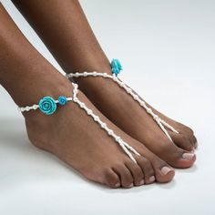 Bridal Barefoot Sandals Destination Wedding Foot by ZamydreDesigns, $17.00