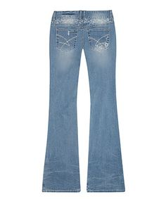 This Amethyst Jeans Julie Distressed Flare Jeans by Amethyst Jeans is perfect! #zulilyfinds