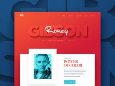 Working on a small promo website for an artist named Roney Gibson. Check out the full version in the attachment!  Behance