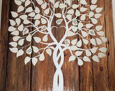 Gästebuch-Baum Guest Book Jäten Baum Holz Baum Gästebuch