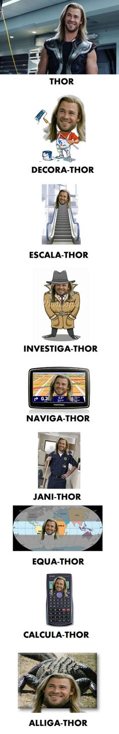Funny pictures about Thor. Thor Everywhere. Oh, and cool pics about Thor. Thor Everywhere. Also, Thor. Thor Everywhere. Marvel Jokes, Funny Marvel Memes, Dc Memes, Avengers Memes, Marvel Avengers, Funny Jokes, Funny Geek, Memes Humor, Funny Movie Memes