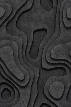 black . abstract contours . 3D