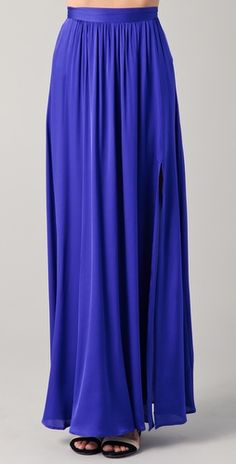 Royal blue maxi skirt.
