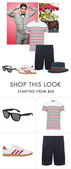 """Blaine Glee - Behind Closed Doors - Fanfiction 4th of July Set"" by firewitch23 ❤ liked on Polyvore featuring Pilgrim, adidas Originals, STONE ISLAND, men's fashion and menswear"