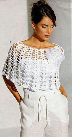 Olá pessoal, boa noite!  Faça um bonito poncho de crochê, com a receita e o gráfico abaixo!  Uma linda peça para compor looks charmosos e e...