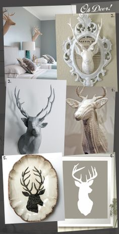How do you make a real, taxidermy, deer head look this good? , Oh Deer!