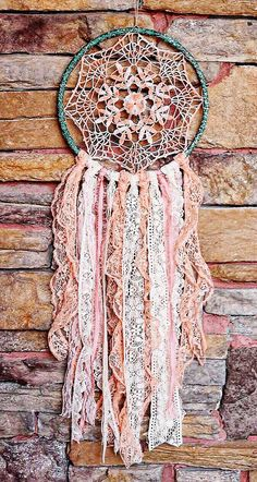 Bohemian Doily Dreamcatcher Southwest by DesertMermaidStore