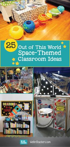 Make your classroom out of this world with these space themed decoration ideas!