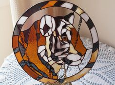 stained glass tiger pattern - Google Search