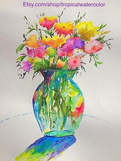 A personal favorite from my Etsy shop https://www.etsy.com/listing/265155380/flowers-watercolor-on-paper-or-canvas
