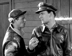 Sergeant Carter and Colonel Hogan