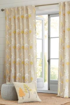Buy Woodland Embroidery And Print Hidden Tab Curtains from the Next UK online shop