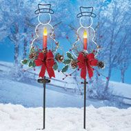 Solar Snowman Christmas Garden Stakes for Sidewalk Glowing LED Lights Set of 2 for sale online Solar Christmas Decorations, Solar Christmas Tree, Christmas Garden, Snowman Decorations, Christmas Lights, Primitive Christmas Ornaments, Christmas Snowman, Discount Home Decor, Solar Powered Lights