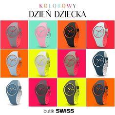 Szukasz prezentu na Dzień Dziecka? Duży wybór kolorowych zegarków znajdziesz w butiku SWISS. Zapraszamy!