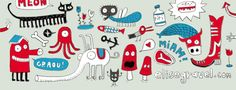 Elise Gravel | author - illustrator Elise Gravel, Illustration, Print Patterns, Literature, Character Design, Doodles, Snoopy, Creatures, Author