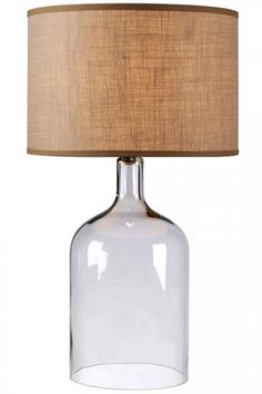 Home Decorators Collection: Capri Table Lamp, $224. DIY idea: cut off the base of a glass jug using a glass-cutting tool, use a diy bottle lamp converter kit to assemble the lamp.